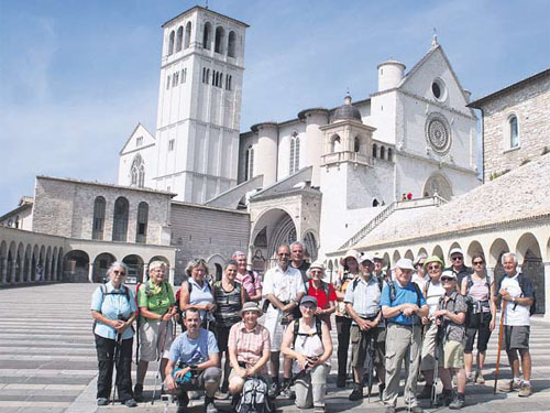 Pilgergruppe in Assisi