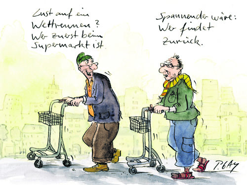 Karikatur über Demenzkranke Copyright: Peter Gaymann, Köln
